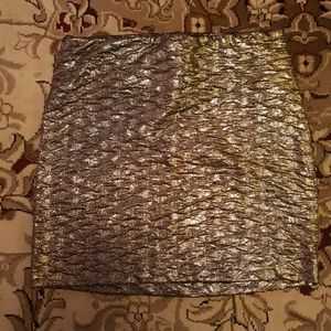 BCBG mini skirt gold glitter